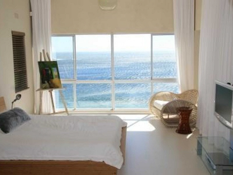Beautiful bedroom with ocean view