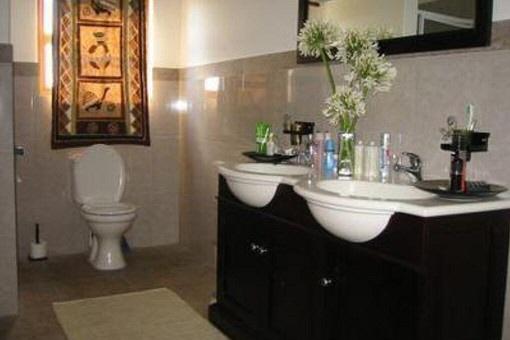 Bathroom with two basins